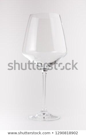 Raro antiguos copa de vino reflexión aislado blanco Foto stock © gsermek