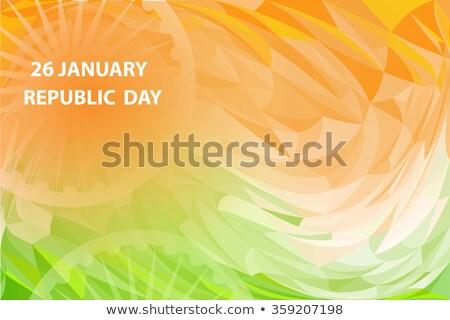 elegante · indiano · bandeira · onda · elegante · artístico - foto stock © bharat