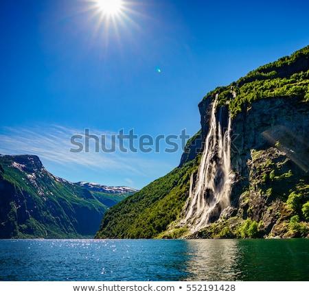 Lata spektakularny niebo wody słońce tle Zdjęcia stock © gophoto