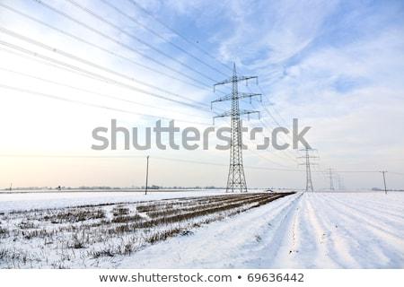 landschap · sneeuw · witte · blauwe · hemel · mooie · natuur - stockfoto © meinzahn