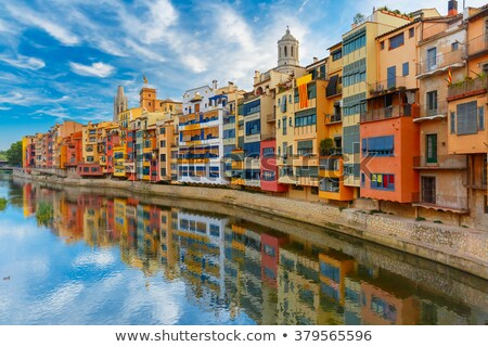 Beautiful view to Gerona city, Spain Stock photo © Nejron