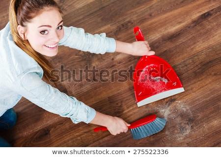 Dustpan and brush floor sweeper Stock photo © stevanovicigor