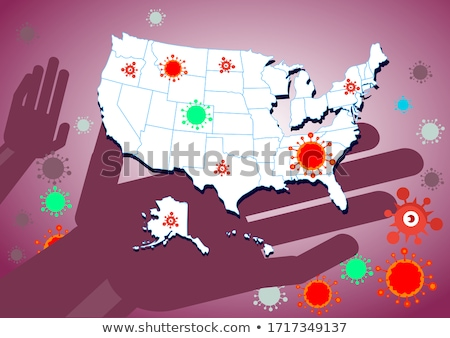 Massachusetts Small Flag on a Map Background. Stock photo © tashatuvango