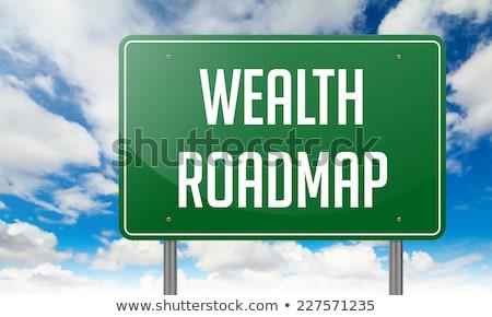 Wealth Roadmap on Highway Signpost. Stock photo © tashatuvango