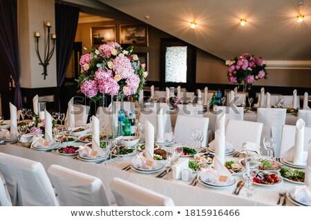 Wedding Reception Hall Table  Stock photo © Mikola249