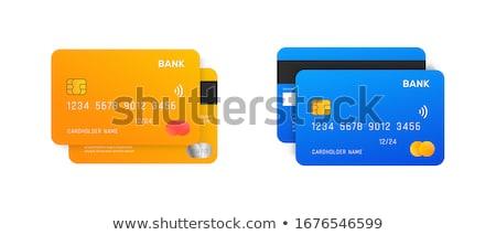 Blu colore carta di credito icona soldi tecnologia Foto d'archivio © aliaksandra