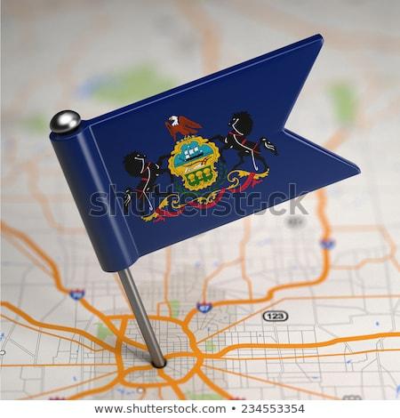 Пенсильвания · США · флаг · Соединенные · Штаты · Америки · карта - Сток-фото © tashatuvango