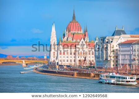 Danube river. Budapest Stock photo © joyr