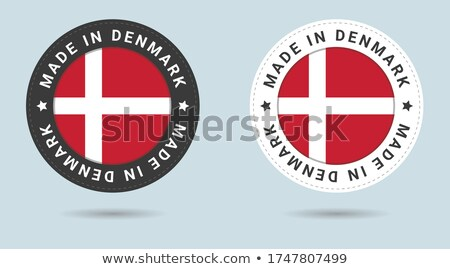 Denemarken land vlag kaart vorm tekst Stockfoto © tony4urban
