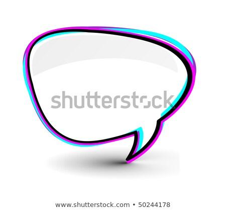 Messenger finestra icona isolato bianco internet Foto d'archivio © redshinestudio