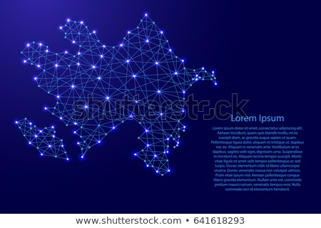 Mapa república Azerbaiyán punto patrón vector Foto stock © Istanbul2009