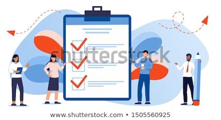 Homem caneta ilustração escrever negócio Foto stock © paulfleet