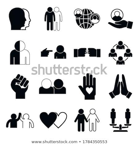 stop · diszkrimináció · szett · ikonok · mutat · stoptábla - stock fotó © redkoala