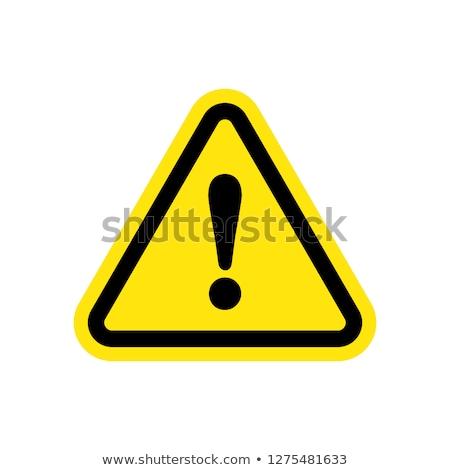 Figyelmeztetés éber kosár ikon vektor kép Stock fotó © Dxinerz