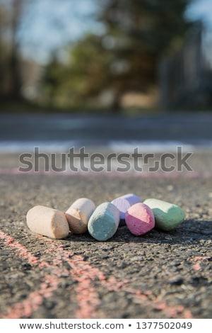 Tablica · kolorowy · czarny · odizolowany · biały · tle - zdjęcia stock © ozgur