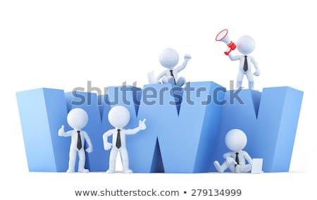 бизнес-команды WWW знак изолированный белый Сток-фото © Kirill_M