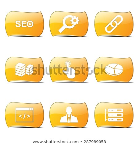seo internet sign yellow vector buttonicon design set 11 stock photo © rizwanali3d