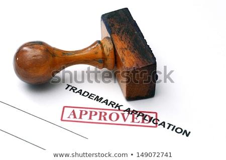 Védjegy alkalmazás toll üzlet papír adat Stock fotó © fuzzbones0