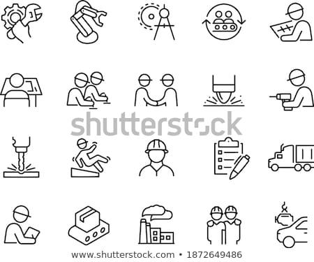 Fabrico processo diagrama engrenagens técnico desenho Foto stock © tashatuvango
