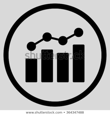 Kolorowy statystyka analityka ikona laptop danych Zdjęcia stock © WaD