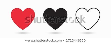 black vector heart vector icons Stock photo © blaskorizov