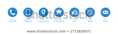 Telefon kék vektor ikon terv háló Stock fotó © rizwanali3d