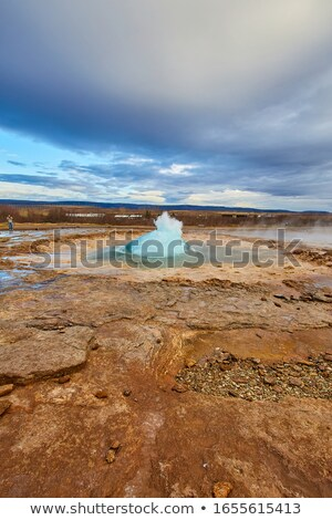 Geysir Strokkur Iceland 3 Stock photo © Hofmeester