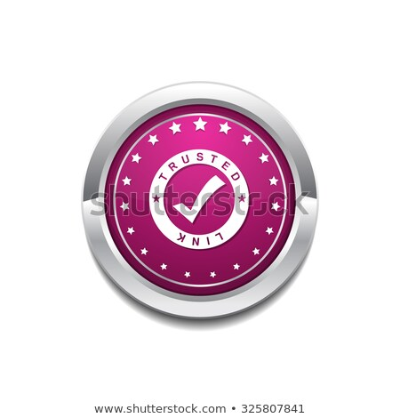 Trusted Link Pink Vector Button Icon Stock photo © rizwanali3d