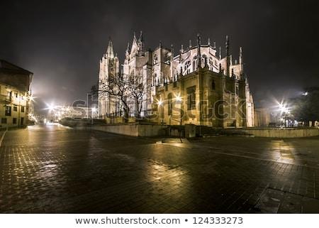katedral · Gotik · kemer · İspanya · kapı · Bina - stok fotoğraf © lunamarina