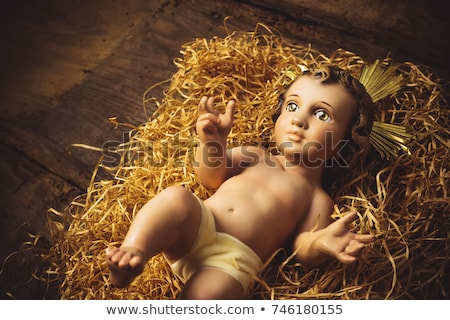 Antique figurine of Baby Jesus Stock photo © marimorena