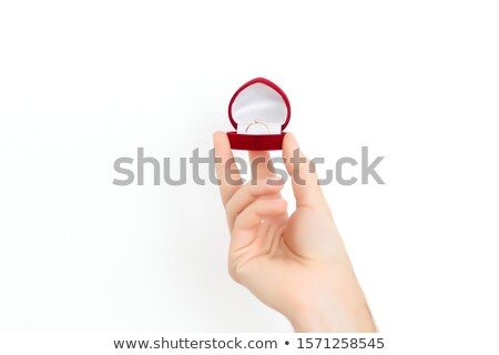 tart · gyűrűk · menyasszony · szeretet · háttér · ajándék - stock fotó © esatphotography