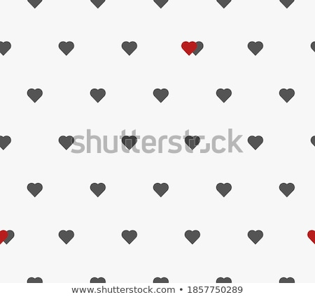 Red heart on gray background Stock photo © shutswis