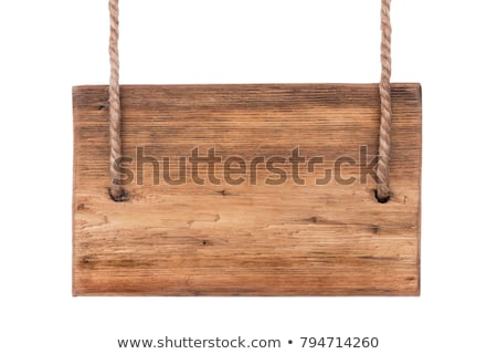 Pointer made of rope with a white background on the wood Stock photo © alekleks