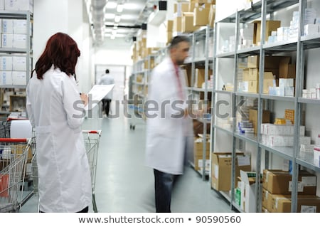 surveillance and controlling at warehouse stock photo © zurijeta