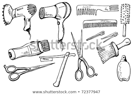 Convert Scissors Comb Stock photo © limbi007