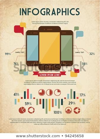 мобильного телефона лента реалистичный телефон ноутбука Сток-фото © creatOR76