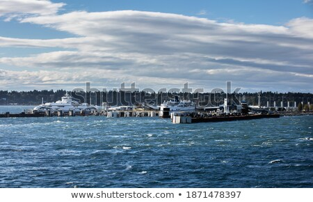 большой паром судно док порт Auto Сток-фото © tab62