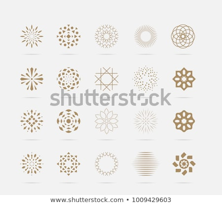 Snowflakes in circle shape, isolated on white stock photo © Evgeny89