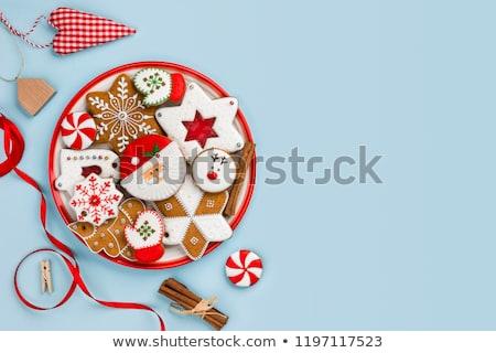 Foto stock: Navidad · cookies · arco · blanco · alimentos