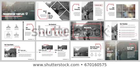Entreprise annuel rapport brochure identité modèle Photo stock © SArts