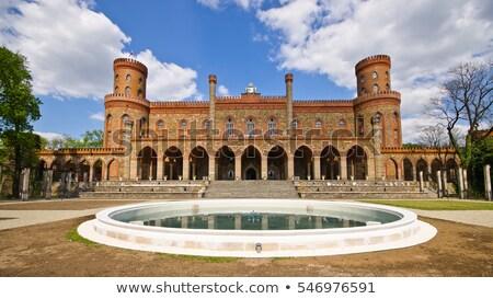 Pałac budynku cegły architektury Europie średniowiecznej Zdjęcia stock © LianeM