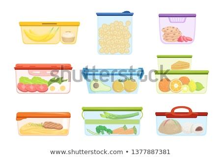 молочная · блюдо · дизайна · творог · синий · пластина - Сток-фото © robuart