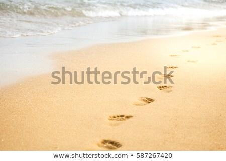 Close up of footprints on sand Stock photo © wavebreak_media