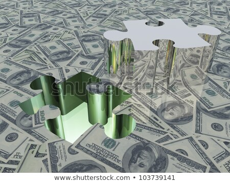 desaparecido · peças · brilhante · verde - foto stock © tashatuvango