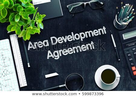 Area Development Agreement Concept. 3D render. Stock photo © tashatuvango