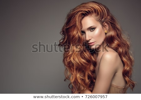 girl with beautiful long red hair Stock photo © svetography