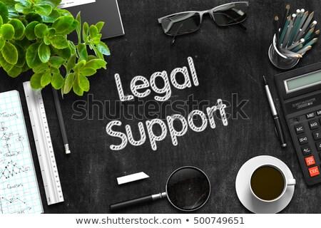 Jurídica apoyo negro pizarra 3D Foto stock © tashatuvango