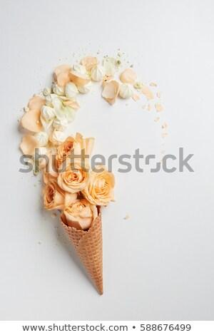 Bladeren bloem ijsje witte arrangement Stockfoto © Leonidtit