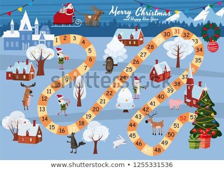 rennes · vecteur · Noël · résumé - photo stock © maryvalery