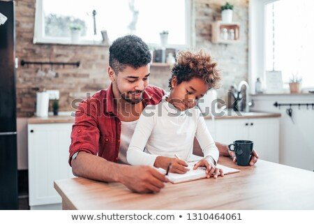 Father And Daughter Learning Stock photo © IS2